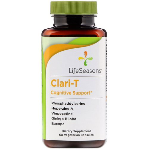 LifeSeasons, Clari-T Cognitive Support, 60 Vegetarian Capsules Review