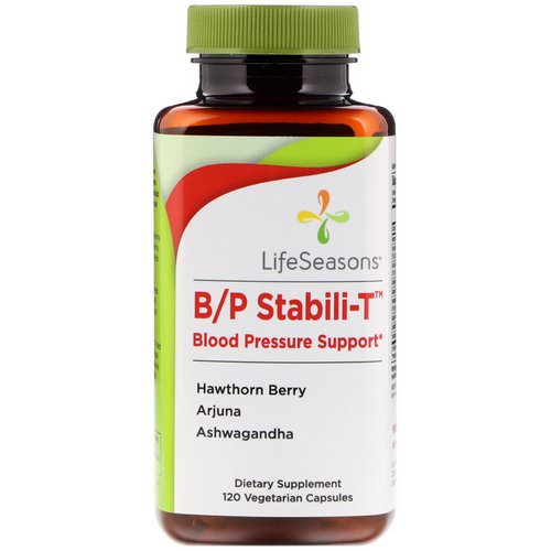 LifeSeasons, B/P Stabili-T Blood Pressure Support, 120 Vegetarian Capsules Review