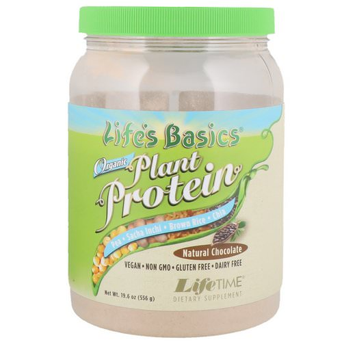 LifeTime Vitamins, Life's Basics, Organic Plant Protein, Natural Chocolate, 1.2 lbs (556 g) Review