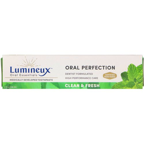 Lumineux Oral Essentials, Medically Developed Toothpaste, Clean & Fresh, 3.75 oz (106.3 g) Review
