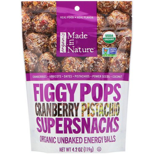 Made in Nature, Organic Figgy Pops, Cranberry Pistachio Supersnacks, 4.2 oz (119 g) Review