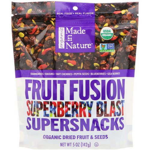 Made in Nature, Organic Fruit Fusion, Superberry Blast Supersnacks, 5 oz (142 g) Review