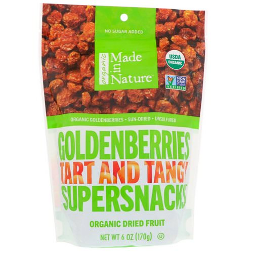 Made in Nature, Organic Dried Goldenberries, Tart and Tangy Supersnacks, 6 oz (170 g) Review