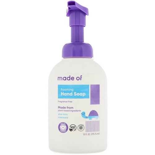 MADE OF, Foaming Hand Soap, Fragrance Free, 10 fl oz (295.74 ml) Review