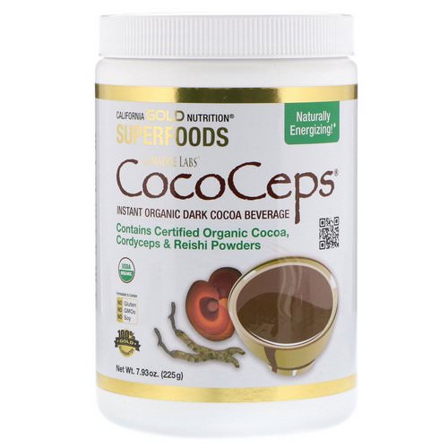 California Gold Nutrition, SUPERFOODS - CocoCeps, Organic Cocoa, Cordyceps & Reishi, 7.93 oz (225 g) Review