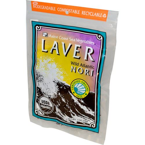 Maine Coast Sea Vegetables, Organic Laver, Wild Atlantic Nori, 1 oz (28 g) Review