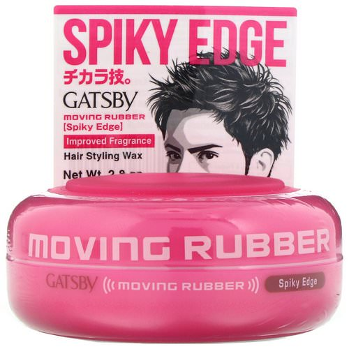 Mandom, Gatsby, Moving Rubber Hair Styling Wax, Spiky Edge, 2.8 oz Review