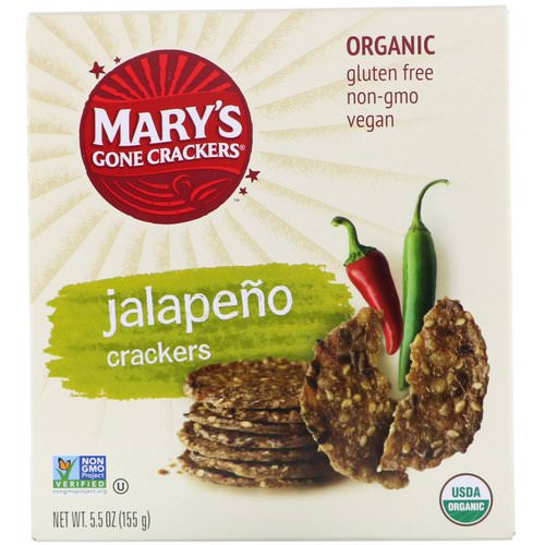 Mary's Gone Crackers, Jalapeno Crackers, 5.5 oz (155 g) Review
