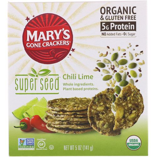 Mary's Gone Crackers, Super Seed Crackers, Chili Lime, 5 oz (141 g) Review