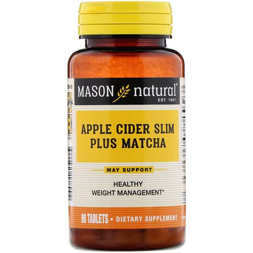 Mason Natural, Apple Cider Slim Plus Matcha, 90 Tablets Review