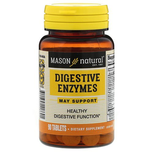 Mason Natural, Digestive Enzymes, 90 Tablets Review