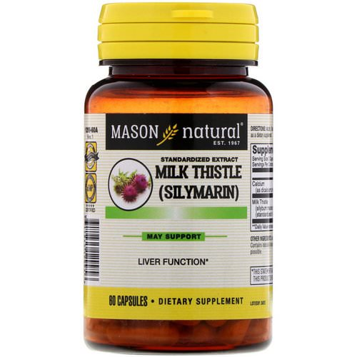Mason Natural, Milk Thistle (Silymarin), Standardized Extract, 60 Capsules Review