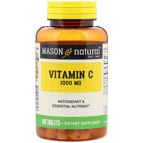Mason Natural, Vitamin C, 1000 mg, 100 Tablets Review