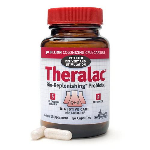 Master Supplements, Theralac, Bio-Replenishing Probiotic, 30 Capsules Review