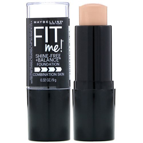 Maybelline, Fit Me, Shine-Free + Balance Stick Foundation, 120 Classic Ivory, 0.32 oz (9 g) Review