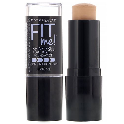 Maybelline, Fit Me, Shine-Free + Balance Stick Foundation, 235 Pure Beige, 0.32 oz (9 g) Review