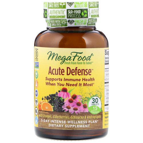 MegaFood, Acute Defense, 30 Tablets Review