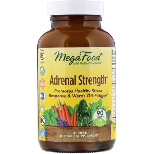 MegaFood, Adrenal Strength, 90 Tablets Review