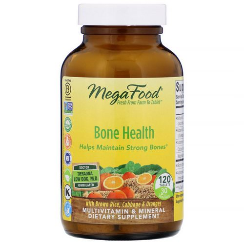 MegaFood, Bone Health, 120 Tablets Review