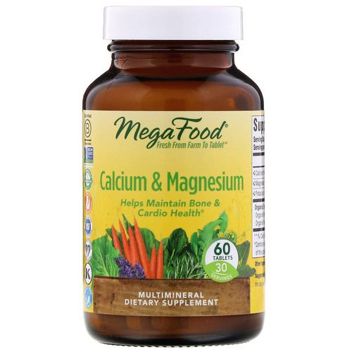MegaFood, Calcium & Magnesium, 60 Tablets Review