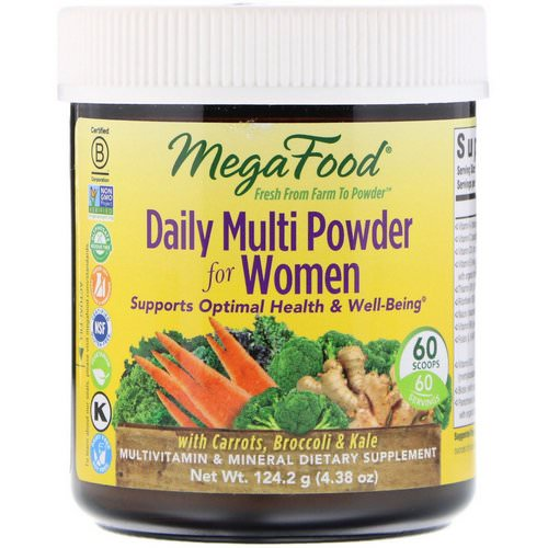 MegaFood, Daily Multi Powder for Women, 4.38 oz (124.2 g) Review