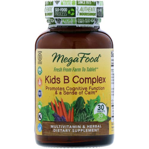 MegaFood, Kids B Complex, 30 Tablets Review