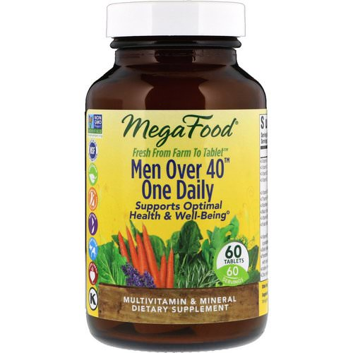 MegaFood, Men Over 40 One Daily, Iron Free Formula, 60 Tablets Review