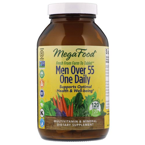 MegaFood, Men Over 55 One Daily, 120 Tablets Review