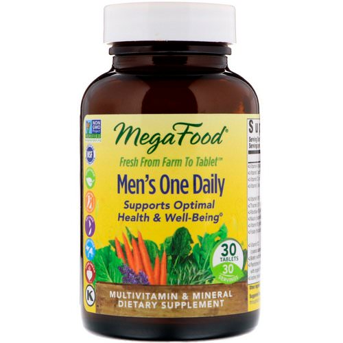 MegaFood, Men's One Daily, Iron Free, 30 Tablets Review