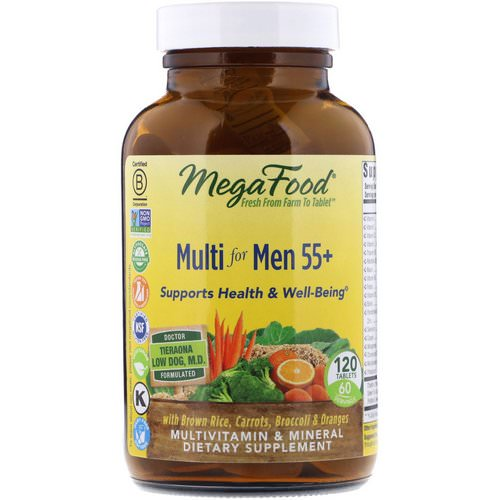 MegaFood, Multi for Men 55+, 120 Tablets Review