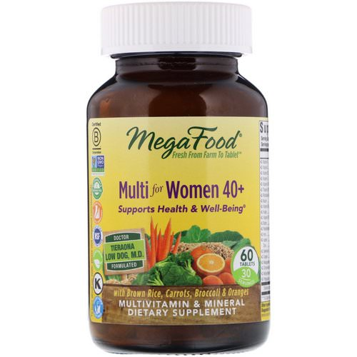 MegaFood, Multi for Women 40+, 60 Tablets Review