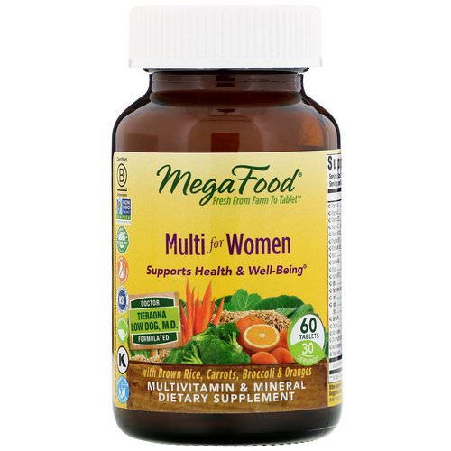 MegaFood, Multi for Women, 60 Tablets Review