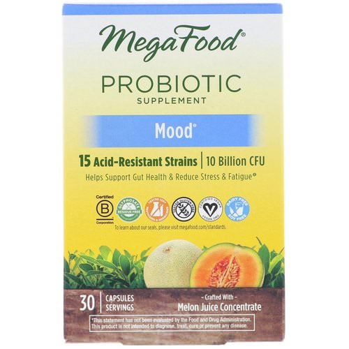 MegaFood, Probiotic Supplement, Mood, 30 Capsules Review