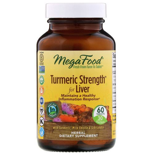 MegaFood, Turmeric Strength For Liver, 60 Tablets Review
