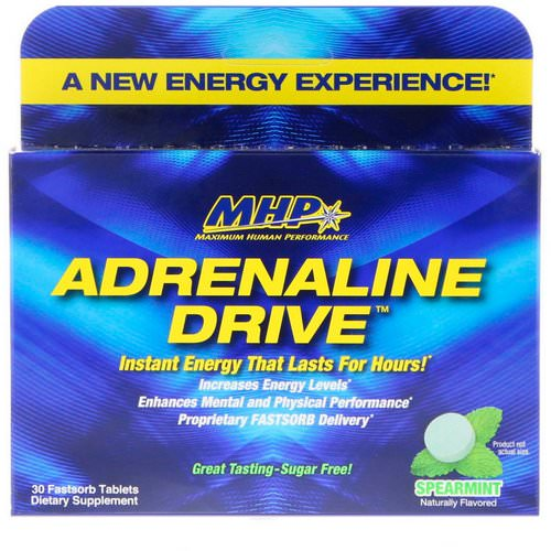 MHP, Adrenaline Drive, Spearmint, 30 Fastsorb Tablets Review