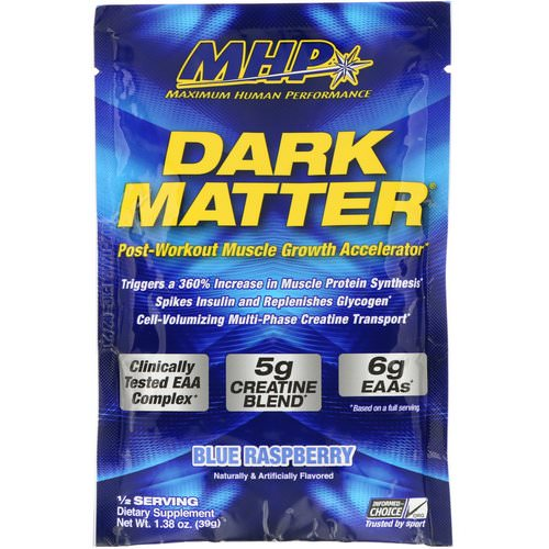 MHP, Dark Matter, Post-Workout Muscle Growth Accelerator, Blue Rasperry, 1.38 oz (39 g) Review