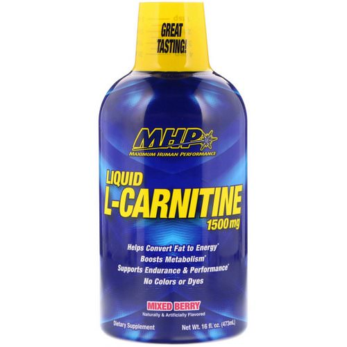MHP, Liquid L-Carnitine, Mixed Berry, 1,500 mg, 16 fl oz (473 ml) Review