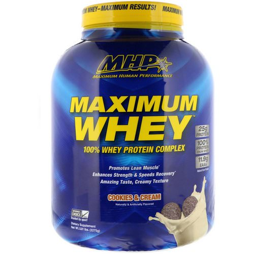 MHP, Maximum Whey, Cookies & Cream, 5.01 lbs (2275 g) Review