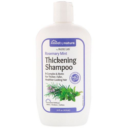 Mild By Nature, Thickening B-Complex + Biotin Shampoo by Madre Labs, No Sulfates, Rosemary Mint, 14 fl oz (414 ml) Review