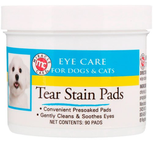 Miracle Care, Eye Care, Tear Stain Pads, For Dogs & Cats, 90 Pads Review