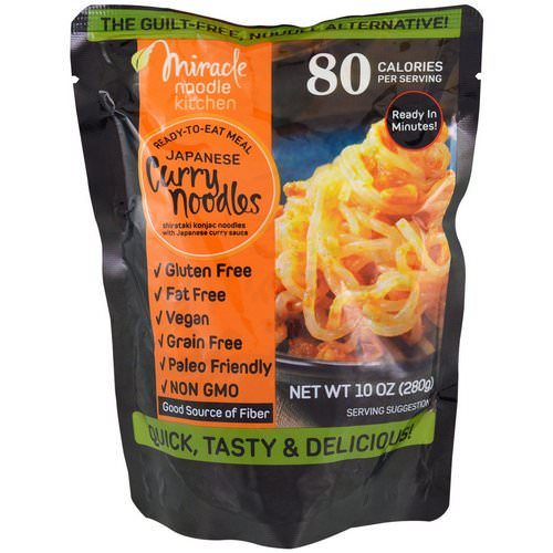 Miracle Noodle, Ready-to-Eat Meal, Japanese Curry Noodles, 10 oz (280 g) Review