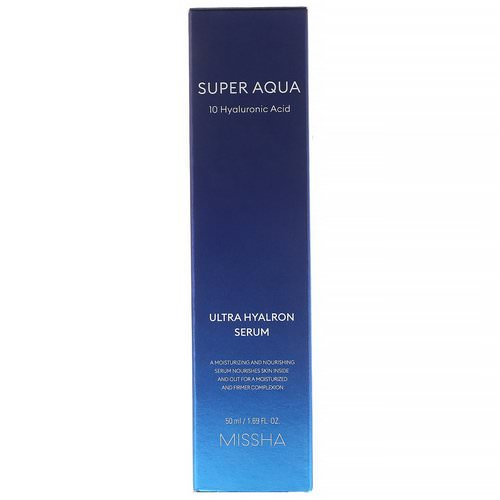 Missha, Super Aqua, Ultra Hyalron Serum, 1.69 fl oz (50 ml) Review