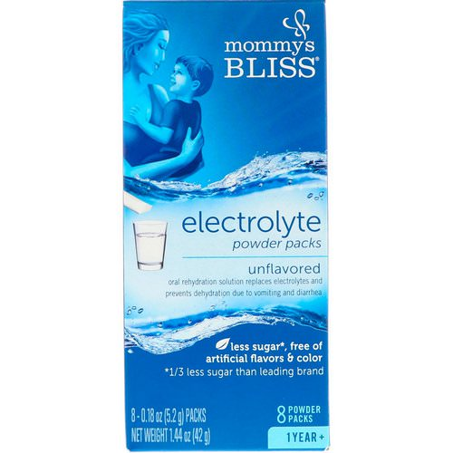 Mommy's Bliss, Electrolyte Powder Packs, Unflavored, 1 Year +, 8 Powder Packs, 0.18 oz (5.2 g) Each Review
