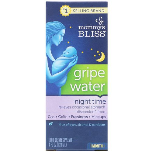 Mommy's Bliss, Night Time, Gripe Water, 1 Month+, 4 fl oz (120 ml) Review