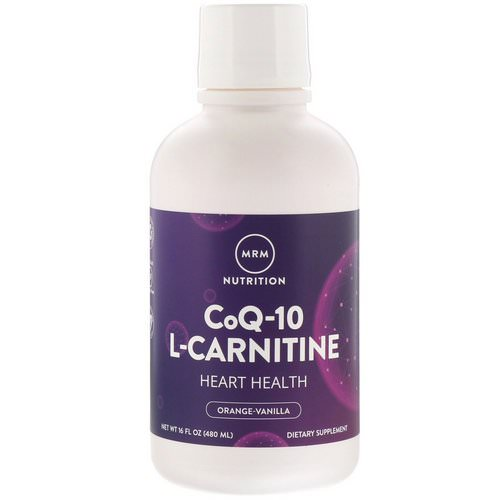 MRM, Nutrition, CoQ-10 L-Carnitine, Orange-Vanilla, 16 fl oz (480 ml) Review