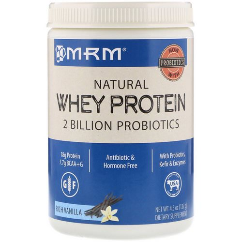 MRM, Natural Whey Protein, Rich Vanilla, 4.5 oz (127 g) Review