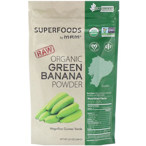 MRM, Raw Organic Green Banana Powder, 8.5 oz (240 g) Review