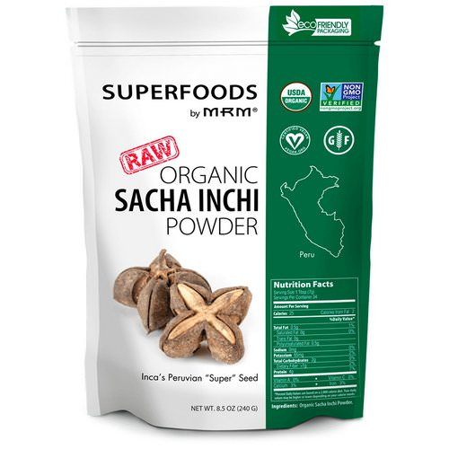 MRM, Raw Organic Sacha Inchi Powder, 8.5 oz (240 g) Review