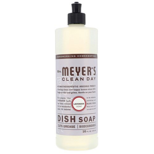 Mrs. Meyers Clean Day, Dish Soap, Lavender Scent, 16 fl oz (473 ml) Review