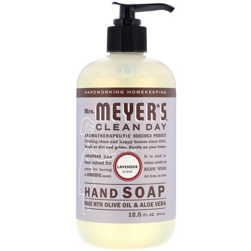 Mrs. Meyers Clean Day, Hand Soap, Lavender Scent, 12.5 fl oz (370 ml) Review